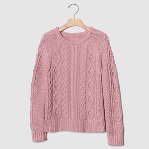 Gap girls baby pink cable knit sweater